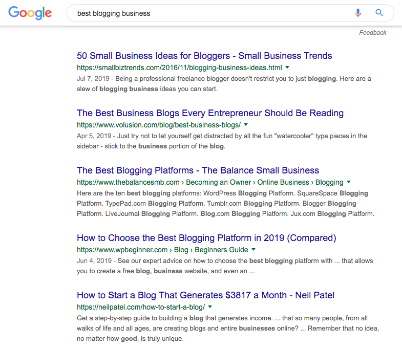 Best Blogging Businesses