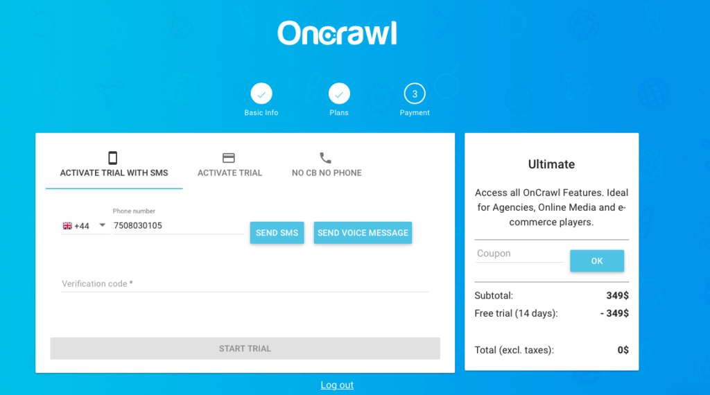 OnCrawl Trial