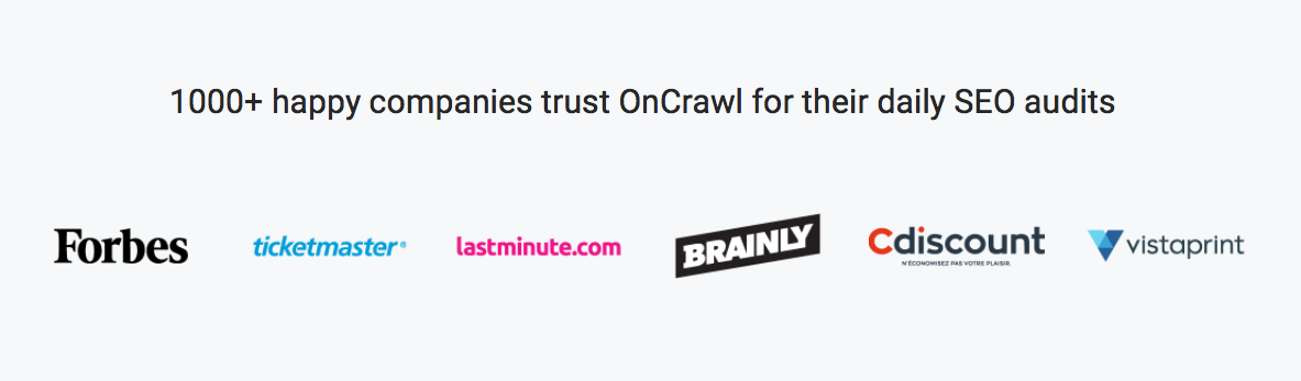 OnCrawl customers
