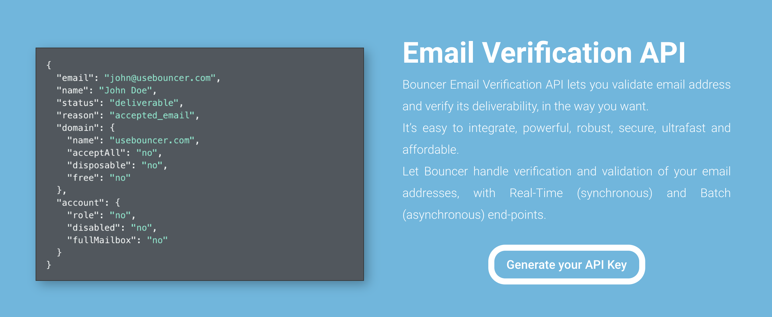 Bouncer - Email Verification API