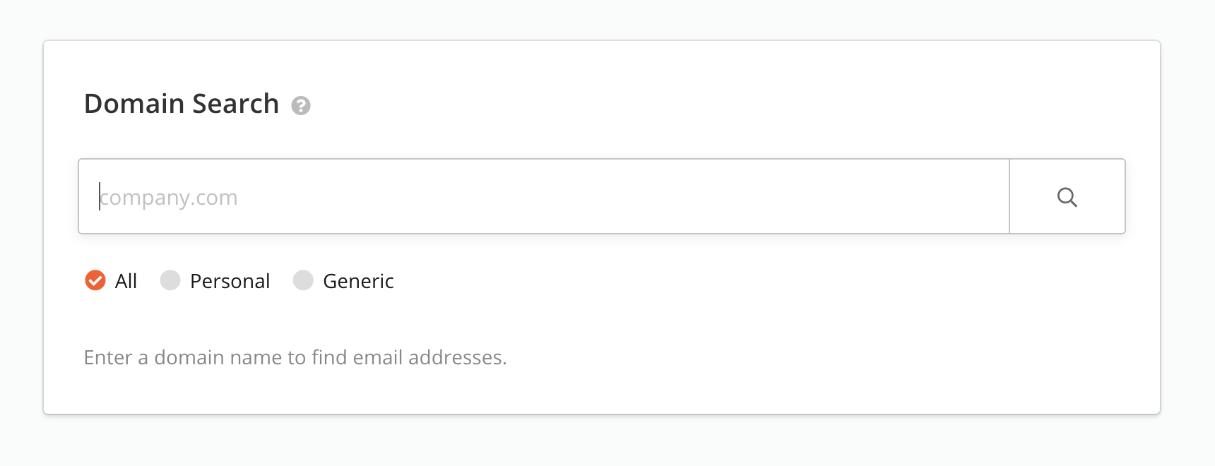 Hunter Domain Search
